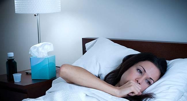 Как заснуть при кашле или простуде