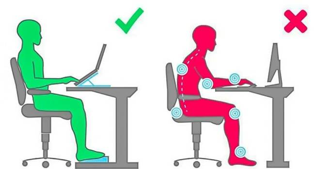 Как правильно сидеть за столом, чтобы не болела спина