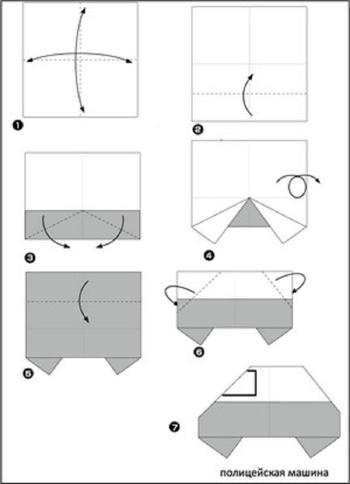 Схема оригами из бумаги для начинающего