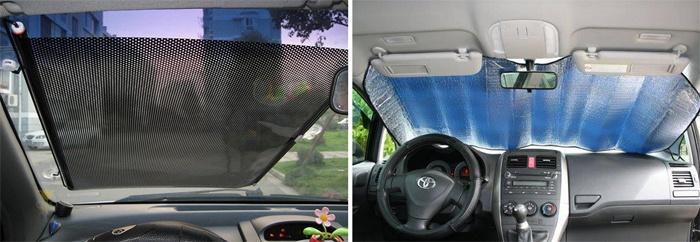 Солнцезащитные шторки на лобовом стекле