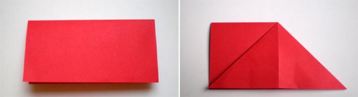 Сложенный пополам лист