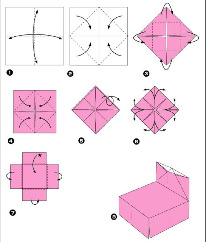 Как сделать кровать из бумаги