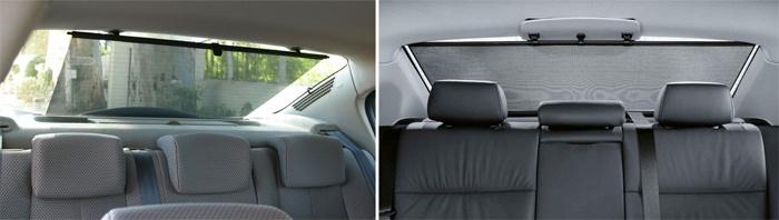 Автомобильные солнцезащитные шторки на заднем стекле
