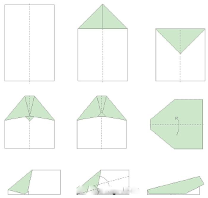 Схема самолета оригами