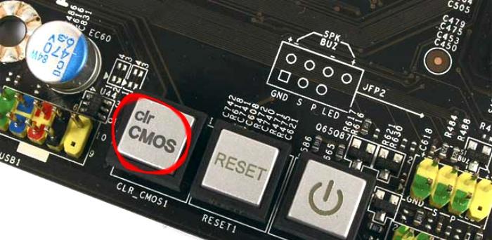 Кнопка Clear CMOS - сброс пароля биос
