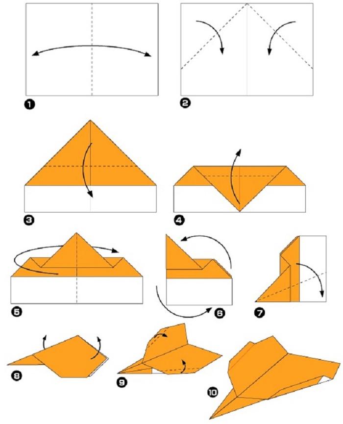 Схема самолета из бумаги