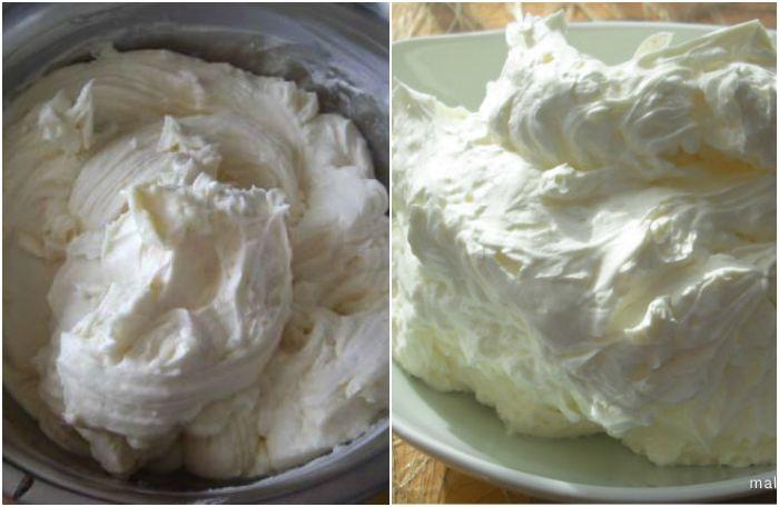 Белковый масляный крем для торта