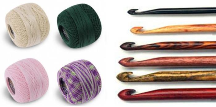 Инструменты и материалы для вязания крючком