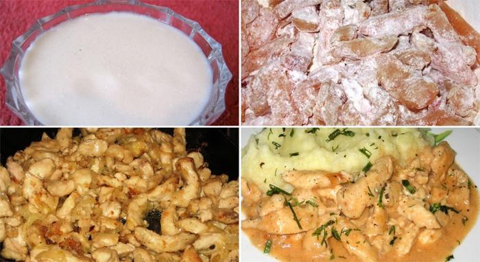 Как приготовить курятину с сметанном соусе
