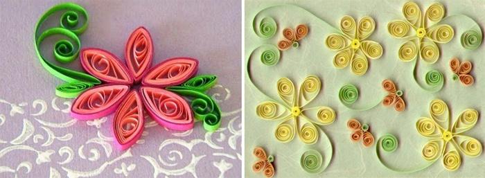Цветы в технике квиллинг для детей
