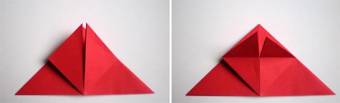 Сгиб треугольников вдвое