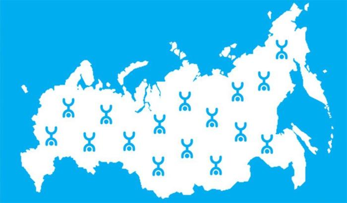 Карта охвата Yota
