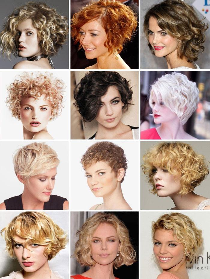 Короткие стрижки для кучерявых волос фото