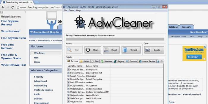 Утилита AdwCleane для удаления вирусов