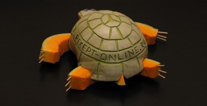 Черепаха из тыквы
