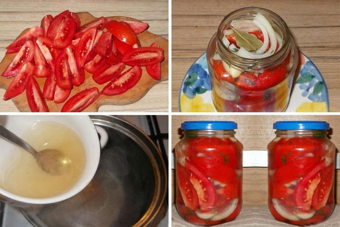 рецепт маринованных помидор в желе на зиму с фото