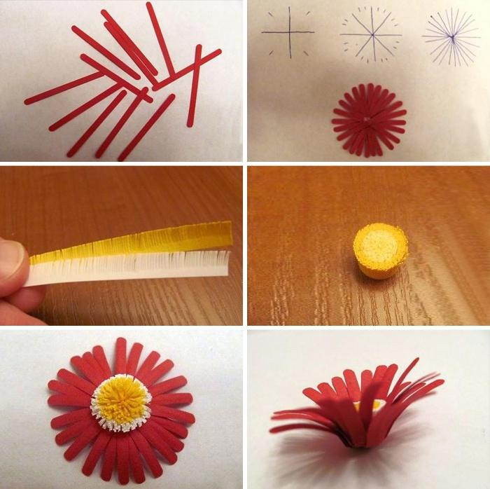 Пошаговая инструкция поделки ромашка
