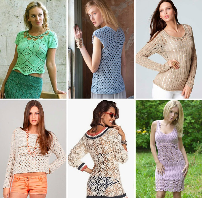 Модные летние вязаные модели 2015 года для женщин