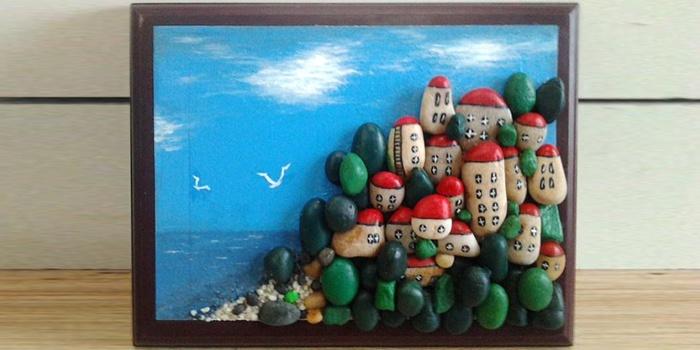 Поделки из морских камней своими руками фото для сада