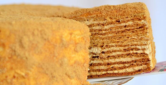кулинария торт медовый как приготовить