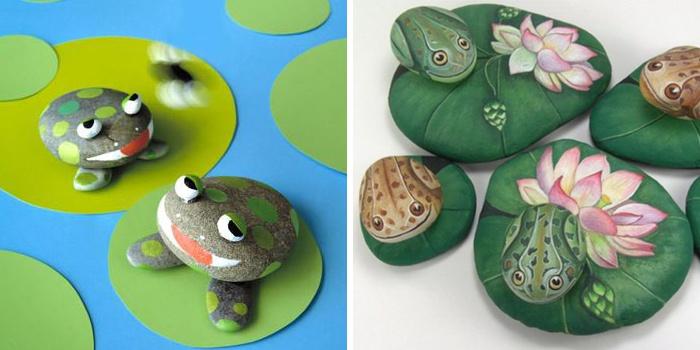 Лягушки из морских камней, сделанные своими руками