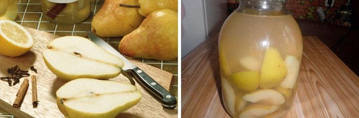 Компот из груш с лимоном и корицей