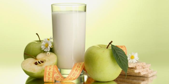Кефир и яблоки для диеты