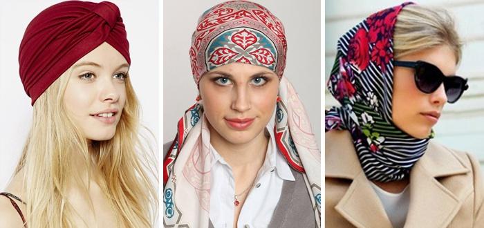 Способы завязывания шарфов на голове
