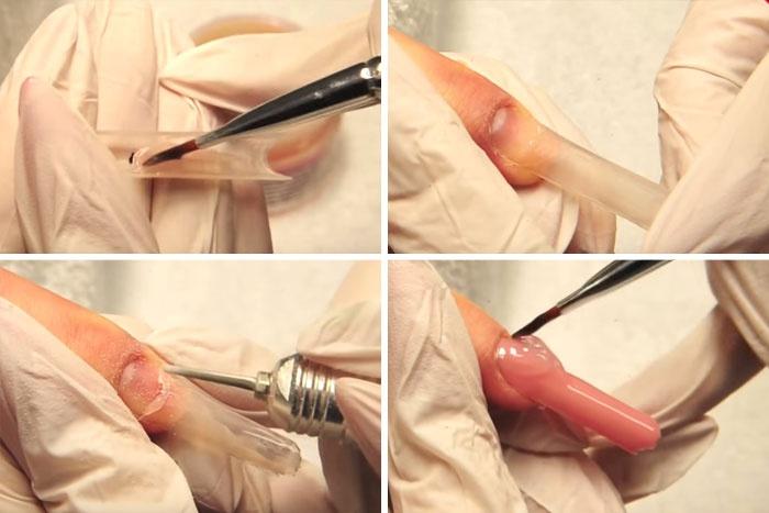 Ногти пайп гелем