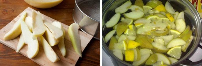Приготовление грушевого компота