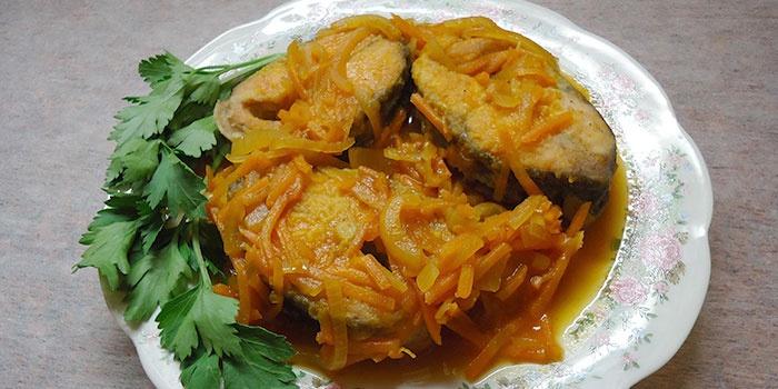 Рыба под маринадом по классическому рецепту