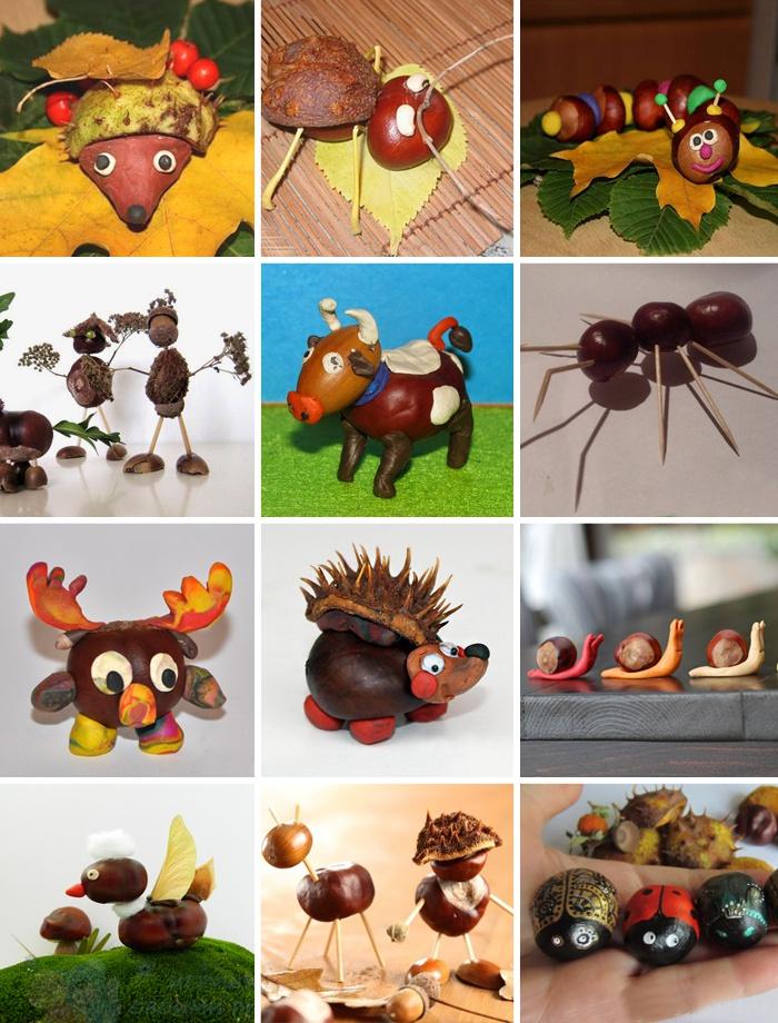 Поделки из каштанов на тему осень