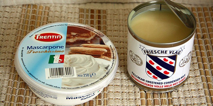 Сыр маскарпоне и сгущенка