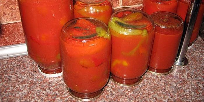 Перцовый болгарский томат на зиму