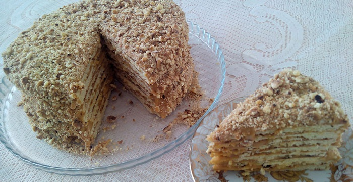 Торт медовик на сковороде рецепт с фото пошагово