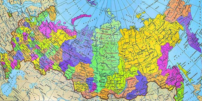 Карта России с роуминговым покрытием