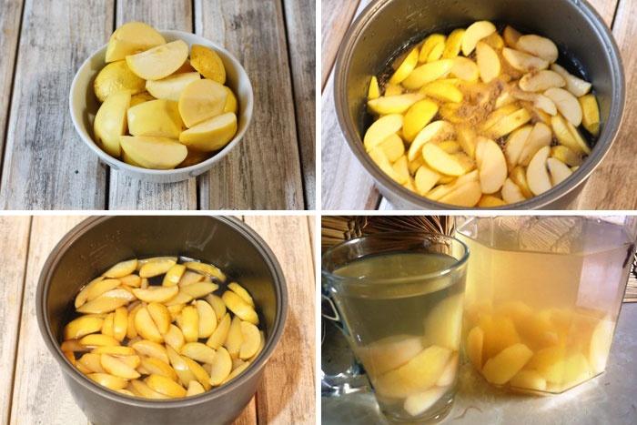 Приготовление яблочного компота в мультиварке