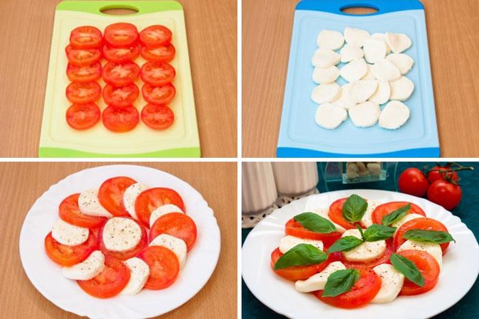 Как приготовить классический салат капрезе