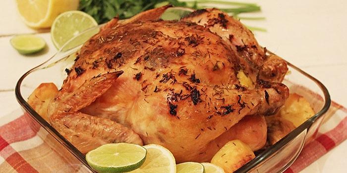 Курица в фольге с хрустящей корочкой