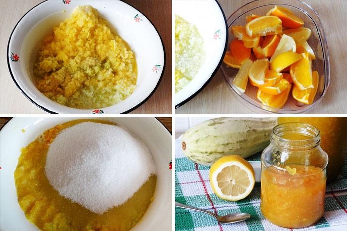Рецепт джема из цуккини и апельсина