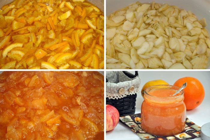Приготовление янтарного повидла из яблок
