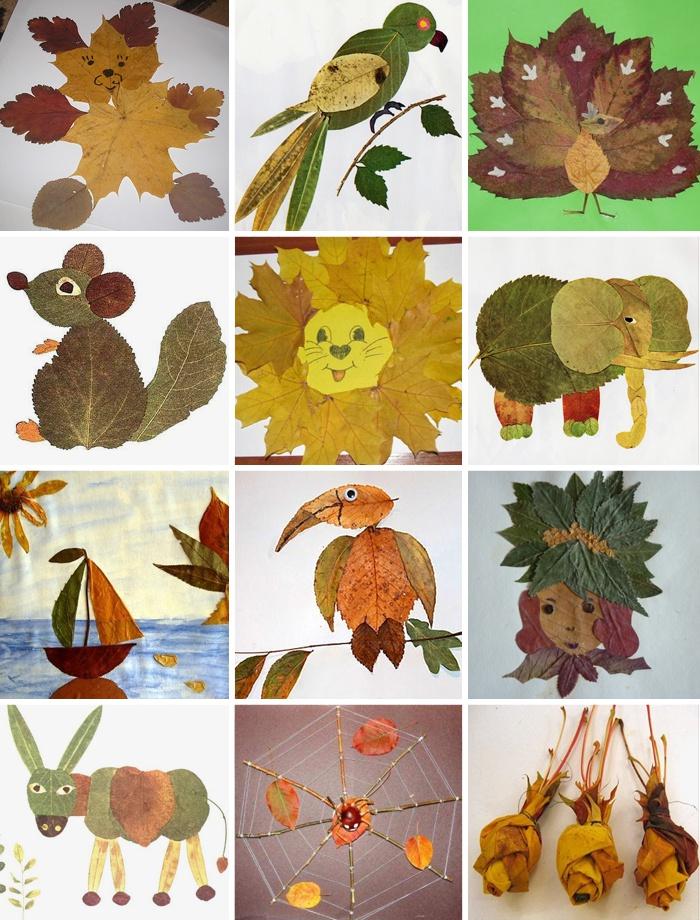 Примеры поделок из листьев своими руками