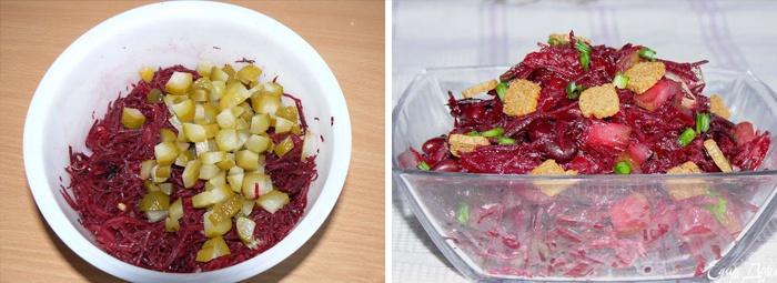 Простой и вкусный салат со свеклой