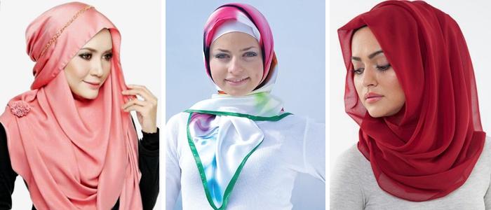Способы завязывания мусульманского платка
