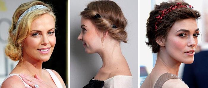 Распущенные волосы с повязкой на каждый день