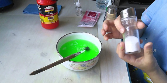 Как сделать попрыгунчик из клея без спирта 300