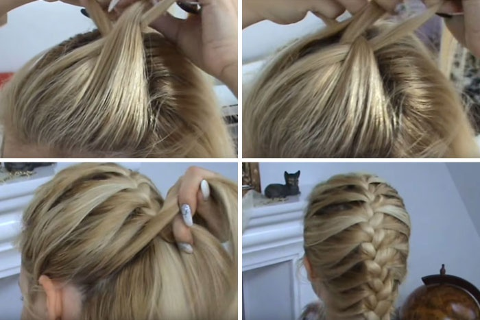 Как сделать колосок из волос пошаговая инструкция