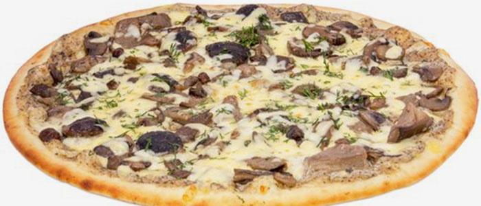 пицца с белыми грибами, шампиньонами рецепт