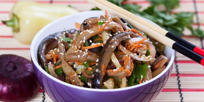 Корейский салат из баклажан
