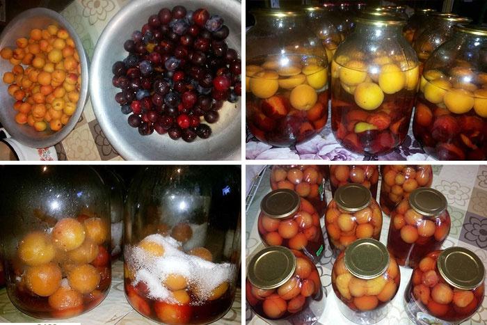 Домашний компот из фруктов на зиму